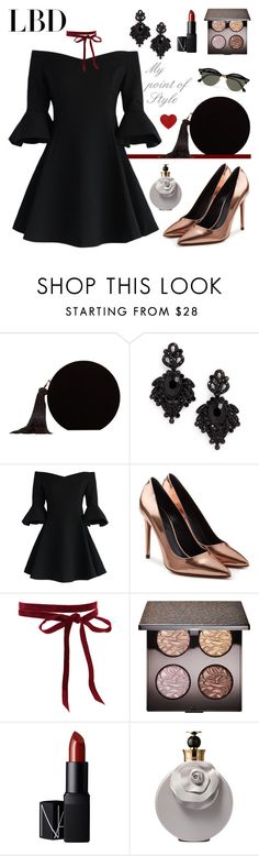 """""""Little Black Dress - Must Have"""" by mypointofstyle ❤ liked on Polyvore featuring MANGO, Tasha, Chicwish, Alexander Wang, Laura Mercier, NARS Cosmetics, Valentino, Ray-Ban, MustHave and LittleBlackDress"""