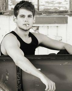 Tony Oller Smoking In Black & White
