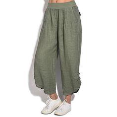 Joe Wenko Mens Harlan Linen Capri Casual Straight Fit Summer Elastic Waist Pants