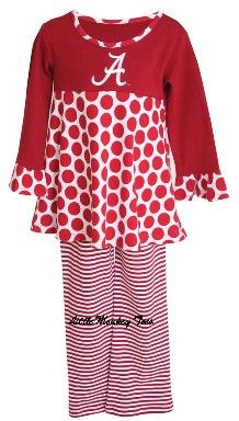 Roll Tide! Alabama little girl outfit