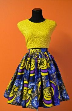 Yellow Combinations : Ankara Short Gown for Ladies http://www.dezangozone.com/2015/07/yellow-combinations-ankara-short-gown.html