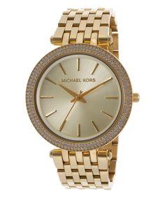 Gold & Swarovski Crystal Parker Bracelet Watch