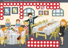 Interactieve praatplaat bij thema 'restaurant' voor kleuters, juf Petra van Ginkel van kleuteridee, met veel informatieve video's,  Image tagging powered by ThingLink