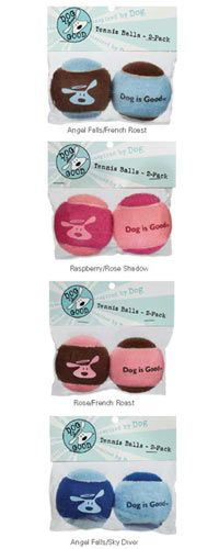 Dog is Good® Tennis Balls - Set of 2 at The Animal Rescue Site  Rose Shadow / French Roast, $3.95