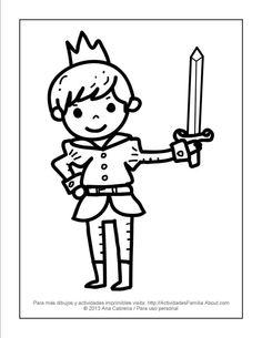10 dibujos de princesas para colorear: Principe para colorear