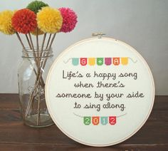 Life's a Happy Song PATTERN by notsomodernmillie on Etsy