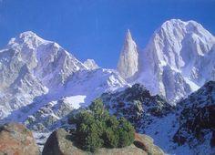 Bublimotin, Bubli Motin, Bublimating or Ladyfinger Peak, is a distinctive rock spire in the Batura Muztagh, the westernmost subrange of the Karakoram range