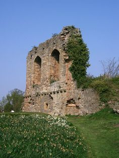 Hawarden Medieval Castle, Wales. The first castle was a wooden fortification near to the church, it was moved to the present site in the 12th century. The stone keep remains from this castle which was destroyed in 1265 by the Welsh. It was then rebuilt at the end of the 13th century as a part of the new defences of North Wales. It was slighted in 1647 during the Civil War, but the keep and part of the walls remain.