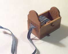 inkle weaving on full loom | Box-Style Tape Loom in 1/12 scale by Bonni Backe of Weevings. Class ...