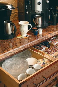 "coffee bar ideas | To view the slide show, click on a picture, then use the ""next"" or ..."