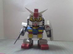 SD RX-78-2 Gundam Ver.7 Free Papercraft Download - http://www.papercraftsquare.com/sd-rx-78-2-gundam-ver-7-free-papercraft-download.html#Gundam, #RX78, #RX782, #RX782Gundam, #SD