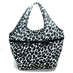 Kate Spade Large Tate Lindenwood Leopard Shoulder Bag (Black) #WKRU1631