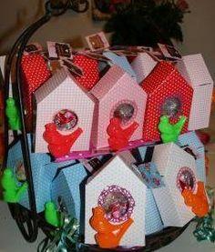 Vogelhuisje met vogeltje #traktatie  #kinderfeestje  Leuk!!
