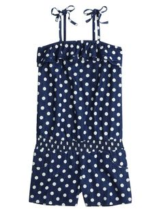 Polka Dot Romper | Oh So Frilly | Outfits To Give | Shop Justice