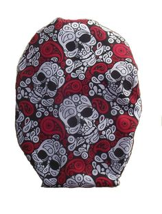 Drainable Stoma Cover Wild - Red with Skull Little Bag, 1 Piece, Printing On Fabric, Skull, Colour Red, Cover, Cotton, Bags, Products