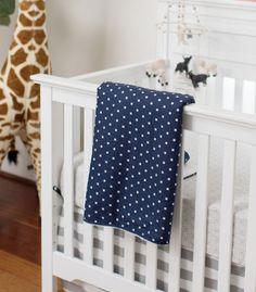 Faux Fur Baby Blanket   Navy Crib Blanket   Baby Boy Blanket