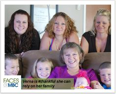 Verna is #thankful she can rely on her family.