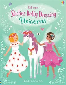 Sticker Dolly Dressing Unicorns This Unicorn sticker book is the perfect party gift for any unicorn lover! Buy Stickers, Unicorn Stickers, Free Stickers, Fiona Watt, Dolly Dress, Magic Book, Christmas Gift Guide, Got Books, Free Kindle Books
