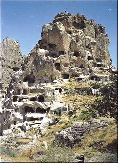 Turkije - Grottenwoningen in rots, Cappadocie