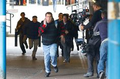 James Corden on the set of the new Paul Potts' movie.