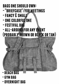 list of bags to considering owning/having on hand #purses #list