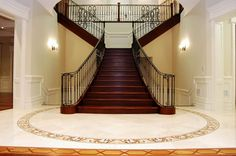 Custom built scarlet o'hara staircase in Toronto Castle, Stairs, Scarlet, Building, Toronto, House, Future, Home Decor, Stairway