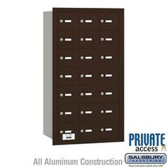 4B+ Horizontal Mailbox - 21 A Doors - Bronze - Rear Loading - Private Access by Salsbury Industries. $661.50. 4B+ Horizontal Mailbox - 21 A Doors - Bronze - Rear Loading - Private Access - Salsbury Industries - 820996417817. Save 10%!