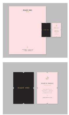 beautiful business card + letterhead design ... mary oh! lingerie