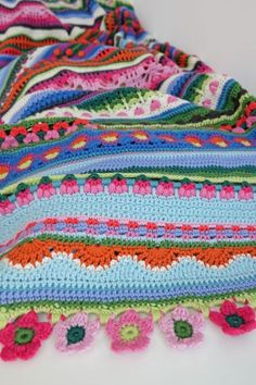 Since last March the patterns for my Sunshine and Showers blanket have been featured on a monthly basis within the lovely Crochet Now magaz...
