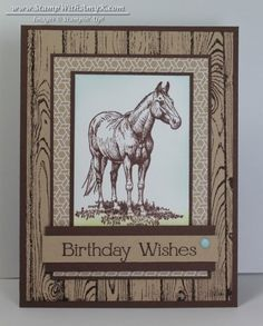 Horse Frontier - Stamp With Amy K - Stampin' Up!