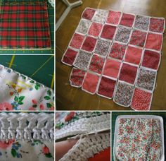 Crochet and Fabric Quilt Free Tutorial