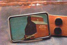 Wheat grain elevator prairie belt buckle - by flightpathdesigns on Etsy Tattoo Process, Western Style Belts, Subtle Textures, Wood Grain, Belt Buckles, Great Gifts, It Is Finished, Elevator, Canada