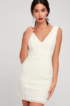 5133a202fff Nevaeh White Lace Cutout Mini Dress Simple Homecoming Dresses