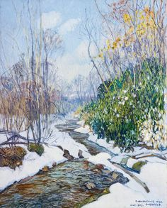 Check this out - I found this item up for auction on Invaluable and thought you might be interested. You can bid on it here: http://www.invaluable.com/auction-lot/EDWARD-WILLIS-REDFIELD-Winter-Stream-27-c-81B41C2A41