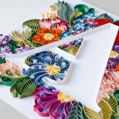 40 Examples of Creative Paper Typography Art By Anna Chiara Valentini Paper Quilling Quilling Letters, Paper Quilling Flowers, Quilling Work, Paper Quilling Patterns, Quilled Paper Art, Quilling Paper Craft, Paper Crafts, Quilling Ideas, Origami And Quilling