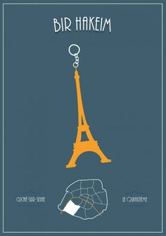 Minimalistic Illustrations Show What Each Parisian District Is Known For - DesignTAXI.com
