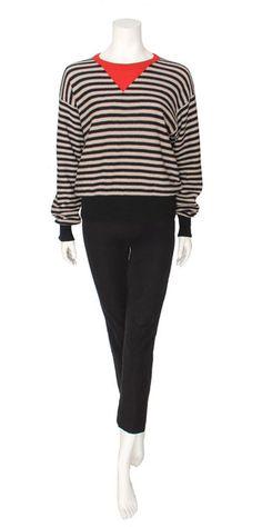 Vintage 1980s Sonia Rykiel Red Striped Knit Sweater ($225.00) - Svpply