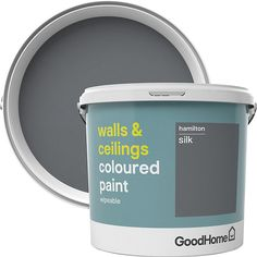 GoodHome Walls & ceilings Hokkaido Matt Emulsion paint walls and ceilings paint is ideal for your interior spaces. It gives a smooth and wipeable finish so your newly painted look will last for longer Plasterboard, Washable Paint, Colored Ceiling, Paint Stain, White Vinyl, Interior Paint, The Hamptons, Keep It Cleaner, Ceilings