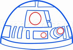 Easy to Draw Star Wars Characters | how to draw r2 d2 easy step 5