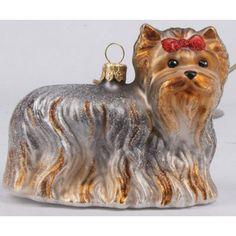 Weihnachtsschmuck Hund Yorkshire Terrier