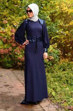 Navy blue #hijab#muslimah fashion
