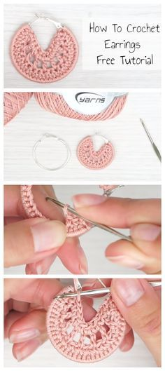 Crochet jewelry 779333910501114843 - How To Crochet Earrings Free Tutorial – Crochetopedia Source by kleinelfe Crochet Jewelry Patterns, Crochet Earrings Pattern, Crochet Accessories, Crochet Necklace, Crochet Jewellery, Baby Accessories, Crochet Diy, Crochet Gifts, Tutorial Crochet