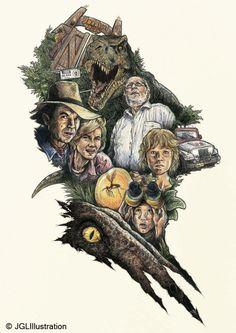 Jurassic Park Poster by jglillustration.deviantart.com on @deviantART