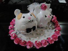 Lindo Casal de gatinhos em eva e mini- florzinhas. R$ 75,00