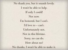 Creative Ways to Say No - learn English,communication,vocabulary,english