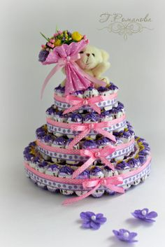 Gallery.ru / Детский тортик с мишкой) - Торты и тортики из конфет) - Galina2405