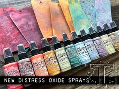 today is the launch of the final 12 colors of distress oxide spray. a shout out to ranger for debuting this product in… Tim Holtz Blog, Tim Holtz Stamps, Tim Holtz Distress Ink, Art Journal Tutorial, Embossing Techniques, Altenew Cards, Anna Griffin Cards, Distress Oxide Ink, Scrapbook Paper