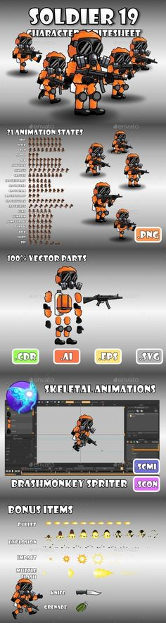 Soldier Character 19 (Sprites)