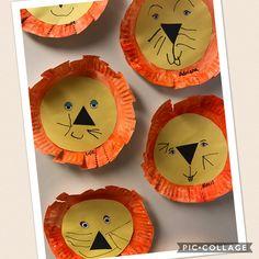 preschool art, paper plate art, paper plate lion