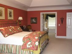 Terracotta Orange Interior Paint And Bedding For Bedroom Decorating